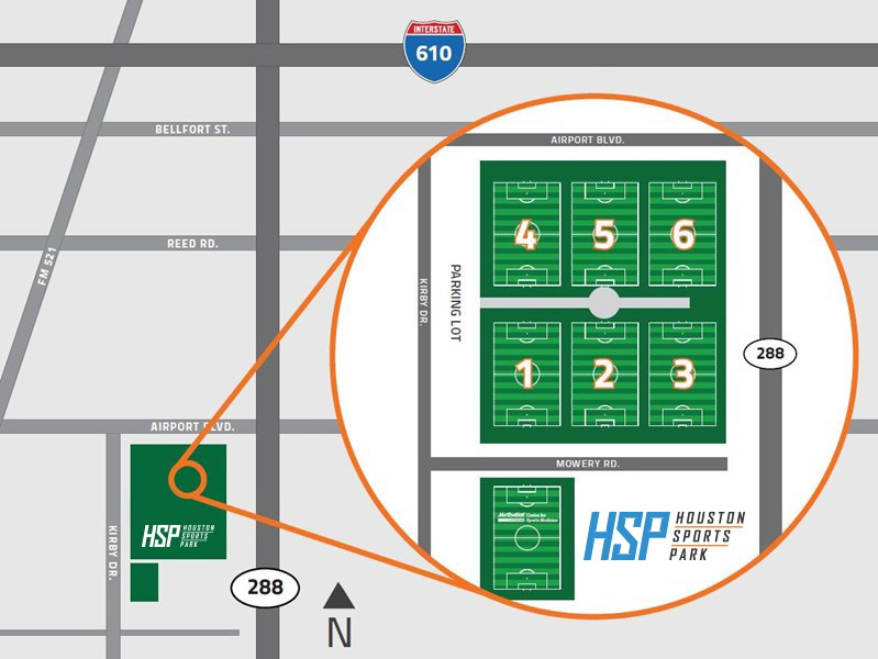 Ground Maps & Parking | Houston Sports Park on kirby st houston map, kirby texas, texas panhandle map, san antonio map, lake kirby abilene tx map, texas street map,